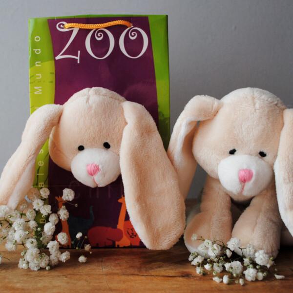 Peluche Pequeño Animales del Mundo - Conejo