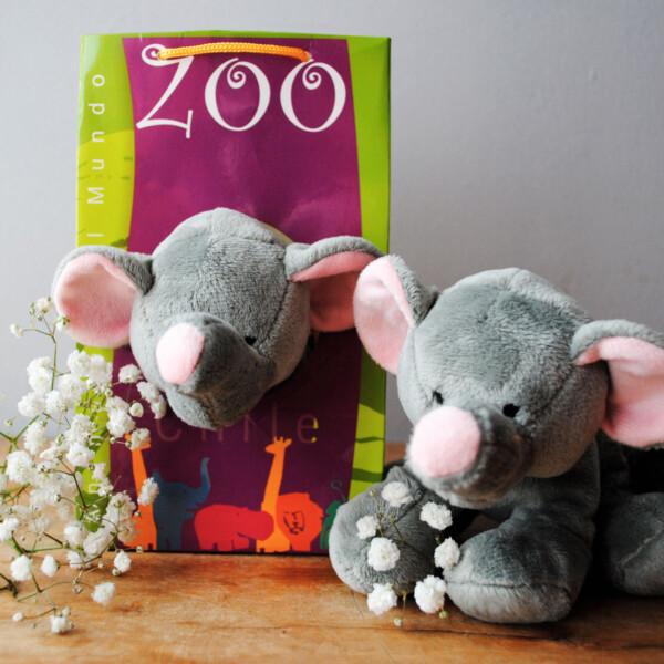 Peluche Pequeño Animales del Mundo - Elefante