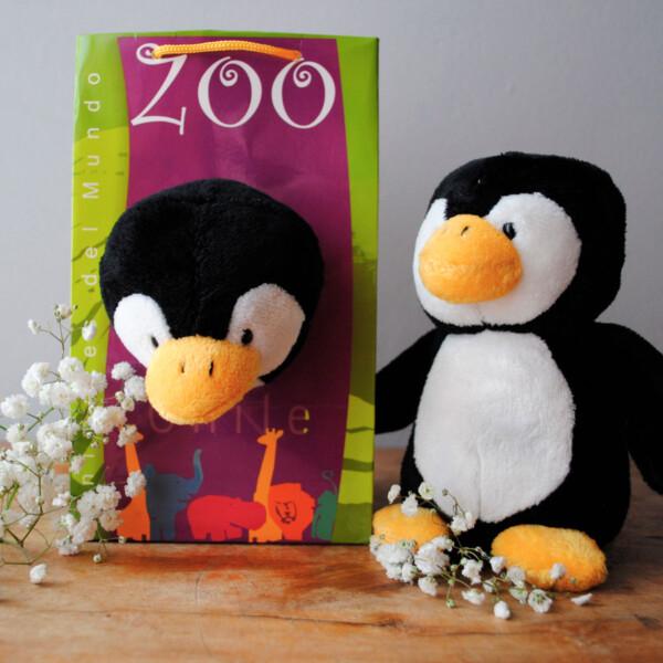 Peluche Pequeño Animales del Mundo - Pinguino