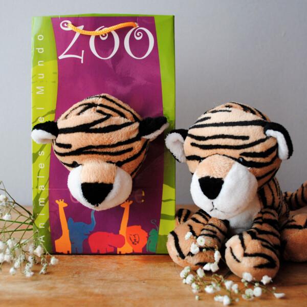 Peluche Pequeño Animales del Mundo - Tigre